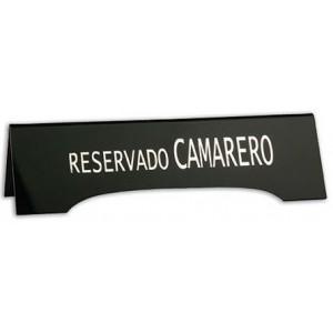 PLACA RESERVADO CAMARERO